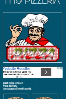 send you a Pizzeria mobile website template